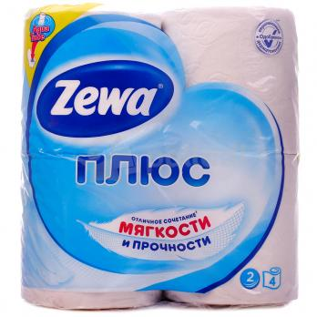 Zewa Плюс Туалетная бумага Белая 2 слоя 4 рулона